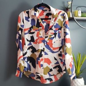 Rw&co silky abstract blouse